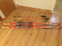 Salomon Equipe 9100 Skis With salomon 850 Bindings and matching poles