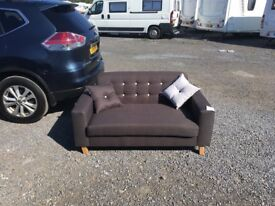 MADE-COM FLYNN 2 SEATER RETRO SOFA IN CHOCOLATE RRP £599.99