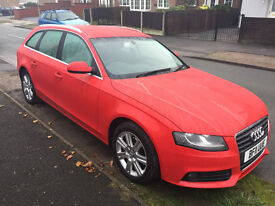 2011 AUDI A4 B8 2.0TDI ESTATE RED START/STOP LEATHER MINT CONDITION