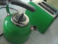 Electric Kettle & Toaster Set - Kenwood Kmix - Bright Green