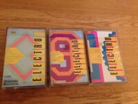 ELECTRO 8, 9 and 10 Cassettes from 1985