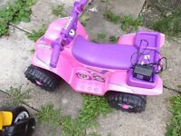 Girl's outdoor electric bike with charger for sale