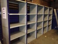 5 bays of dexion impex industrial shelving ( storage , pallet racking )