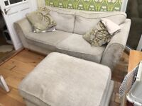FREE Two seater sofa and footstool