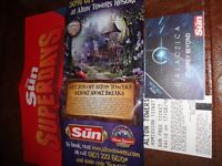 2 X TICKETS FOR ALTON TOWERS 17/08/2016 SCHOOL HOLIDAYS