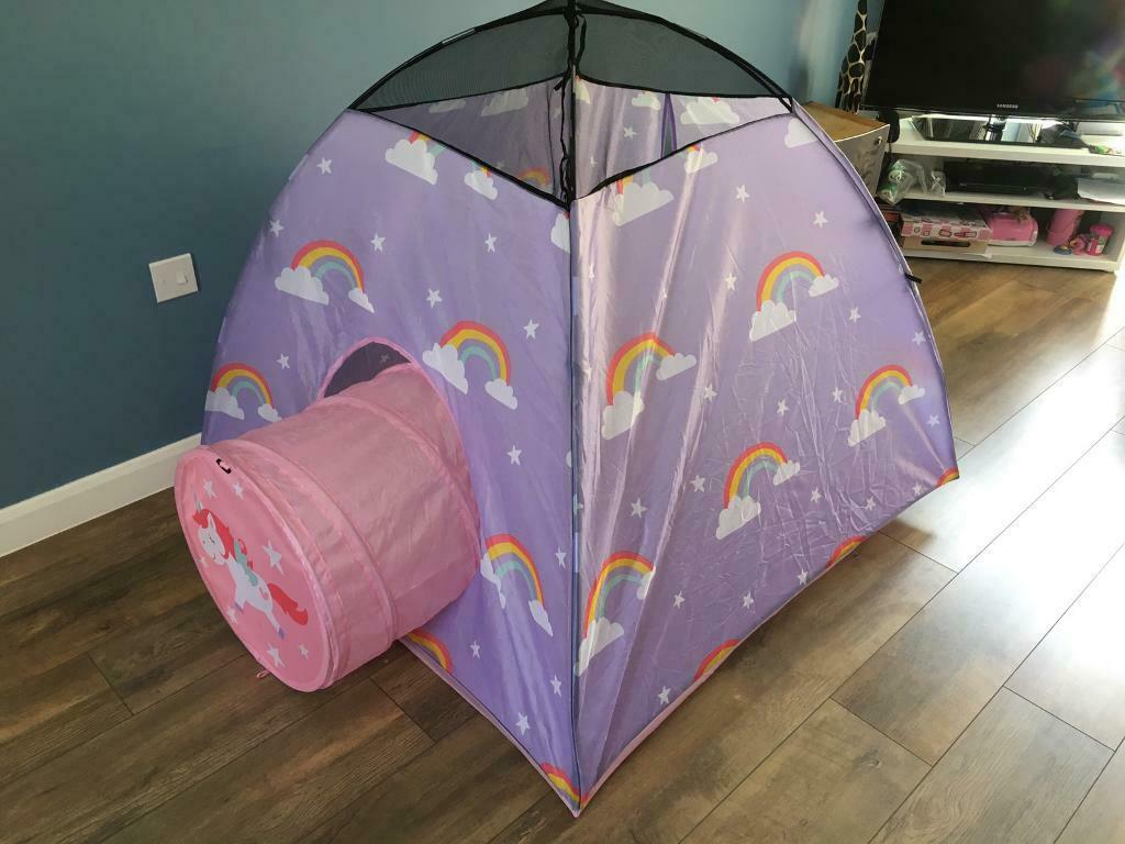 Kids rainbow play tent with tunnel | in Leicester, Leicestershire | Gumtree