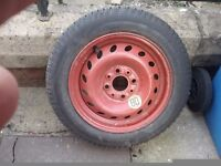 Fiat space saver wheel and tyre