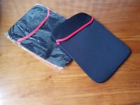 "2 x Black & red tablet cover 10"" x 7"""