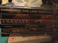 Bundle job lot collection DVDs war historical action adventure thriller crime police cop films