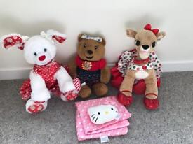 Build a Bear Collection limited edition / Bundle Clarice, Candy Cane, Blush