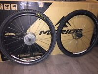 Sun Rims Black Eye Wheelset Complete With Shimano Deore 9 Speed Cassette, Tyres