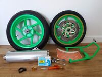 Honda fireblade wheels. Fireblade 918rrw rear wheel and 17inch upgrade front wheel.