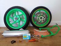 Honda cbr 900rr fireblade wheels. Fireblade 918rrw rear wheel and 17inch upgrade front wheel.