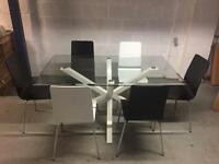 Langley dining table + six chairs