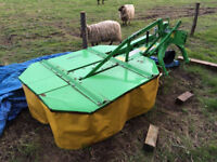 Wolvo R 500 Mini Round Baler, Drum Mower And Bale Wrapper