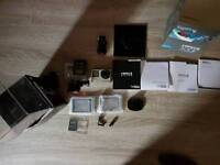 GoPro Hero 4 silver. With waterproof tank and various mounts