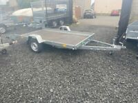 BRAND NEW 10 X 5 SMART CAR TRANSPORTER/ QUAD TRAILER SINGLE AXLE 750KG
