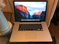 "17 inch Macbook Pro (Late 2009) fully working OS-X ""El Capitan"""