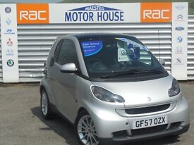 Smart Car Fortwo Coupe PASSION (silver) 2007 FREE MOT'S AS LONG AS YOU OWN THE CAR!!!