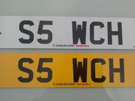 Private Number Plate S5 WCH