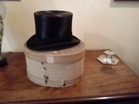 Vintage Silk Top Hat with Box