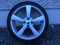 17INCH 4/100 ALLOY WHEELS WITH TYRES FIT VAUXHALL RENAULT ROVER TOYOTA SEAT VW ETC