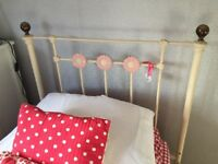 Feather & Black metal single bed frame