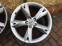 "4 X Genuine Audi 19"" Y-Spoke Alloy Wheels"