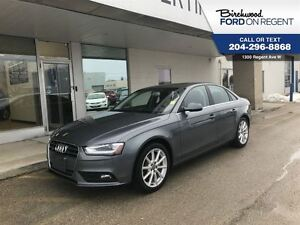2014 Audi A4 2.0T Quattro AWD *Leather/Nav/Moonroof*
