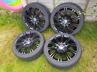 BMW 18 inch alloys & tyres