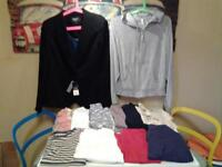 LADIES SIZE 16/18 .. 12 JACKETS/JUMPERS/TOPS .. 6 NEW AND UNWORN