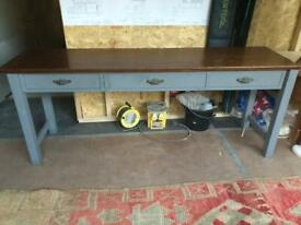 Hand made bespoke side table vintage style 3 drawer