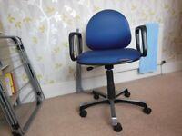 Office type swivel chair.