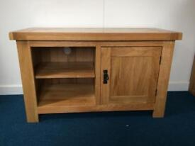 Solid oak tv media unit