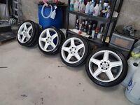 18'' Merc AMG 447 Alloys 5x112 with tyres not Bora golf gttdi mk4 Leon Toledo a3 twincam Subaru bmw