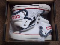 Kids Converse Hi-Top Trainers 5UK Infants Navy/White/Red