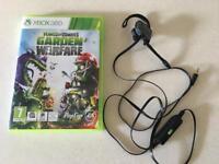 Xbox 360 Garden Warfare, Plants Versus Zombies Headset