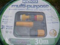 Hozelock 30m Garden Multi-Purpose Starter Hose With Fittings BNIP
