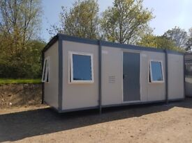 22ft x 9ft Portable Cabin Office. Steel roof & double glazed.