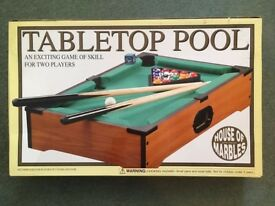 Tabletop Pool game