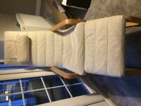 Ikea Chair and Foot Stool - Cream
