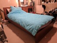 IKEA single bed, mattress and duvet