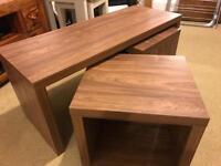 Habitat walnut long John coffee table
