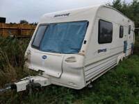 Twin axle caravan shell