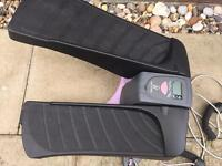 Bodysculpture stepper with resistance bands digital disply