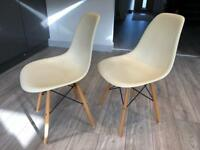 Pair of Eiffel style dining chairs