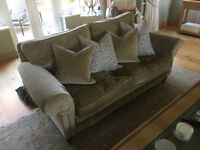 2 Designer Zoffany three seater sofa 104cm d 160cm w in excellent conditions -sold seperately