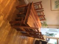 Gorgeous Indian Wood table and 8 chairs Kingsbury, London must go 27th Feb!!