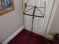 Black Music Stand. Hardly used. Beautiful Condition