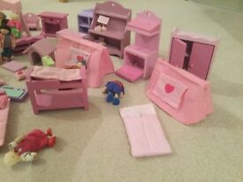 Early learning centre dolls house and accessories